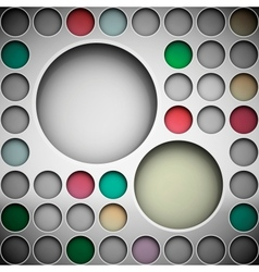 Background with circles for text vector image vector image