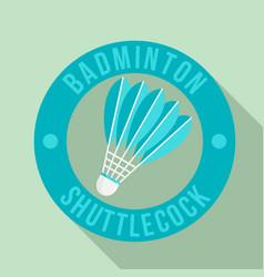 badminton shuttlecock logo flat style vector image