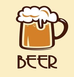 BEER RETRO vector image