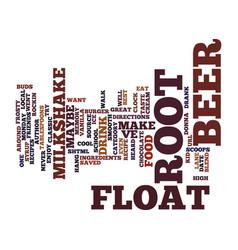 best recipes root beer float milkshake text vector image