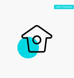 Birdhouse tweet twitter turquoise highlight vector