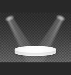 black platform template 3d realistic winner vector image