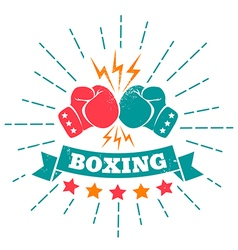 boxing retro ribbon vector image