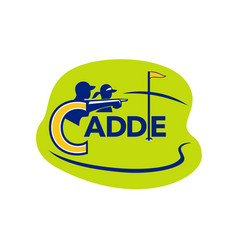 Caddie and golfer golf course icon vector