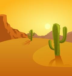 Cartoon a desert background vector