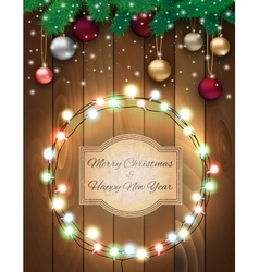Christmas background with sign vector image vector image