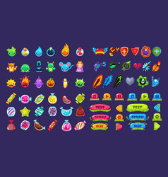 Collection colorful user interface assets vector