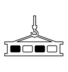 crane weight lifting service vector image