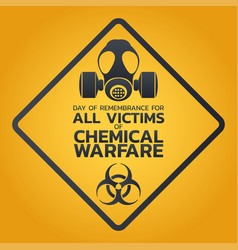 day of remembrance for all victims of chemical vector image