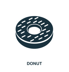 donuts icon mobile apps printing and more usage vector image