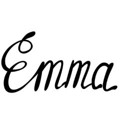 Emma name lettering vector image