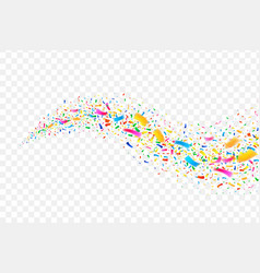 festive colorful confetti wave carnival party tail vector image