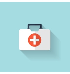 First aid kit flat icon Health care vector image