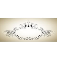 floral frame in a classical style vector image