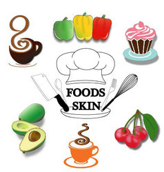 Foods-Skin vector image