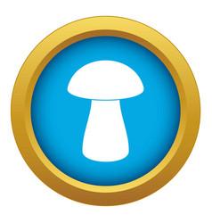 Fungus boletus icon blue isolated vector