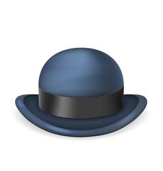 Gentleman bowler hat 3d isolated vintage design vector