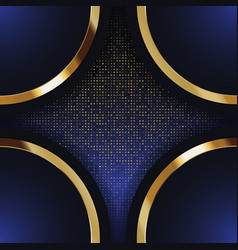 Gold banner abstract background board for text vector