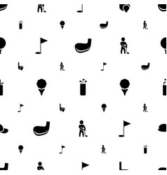 Golf icons pattern seamless white background vector