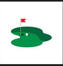 golf logo template vector image