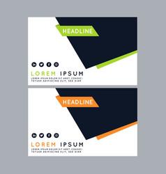 Green banner design abstract poster set web ba vector