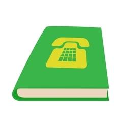 Green phone book icon cartoon style vector