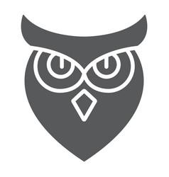 Halloween glyph icon animal and wisdom bird vector