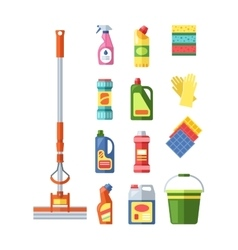House cleaning tools vector