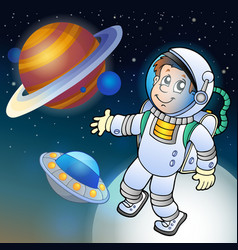 Image with space theme 1 vector