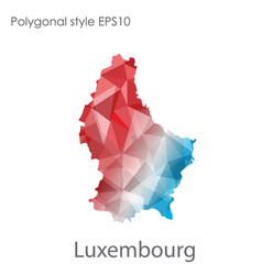 Isolated icon luxembourg map polygonal vector