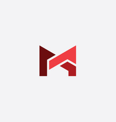 Letter m and a ma icon logo sign vector