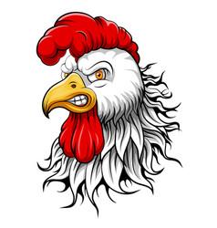 Mascot head an rooster vector