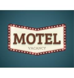 Motel roadsigns vector