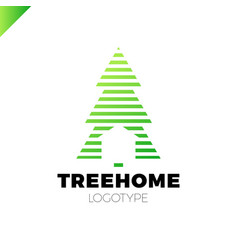 new year or christmas tree in line style with vector image