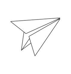 Paper plane school creativity idea icon vector