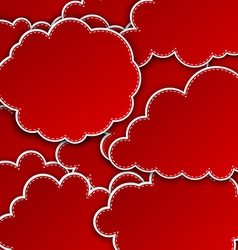 Paper red paper cloud background vector