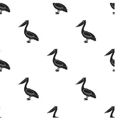 Pelican icon in black style isolated on white vector