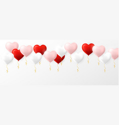 pink red and white helium balloon in fotm of vector image