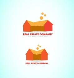 Real estate house home logo vector