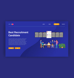 recruitment choose best candidate employee for vector image