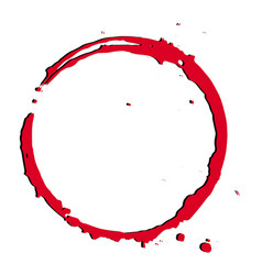 red bloody tracecircle grunge frame background vector image
