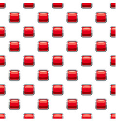 Red square button pattern vector