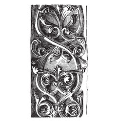 rinceau carved double from notre dame vintage vector image