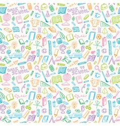 School supplies seamless vector