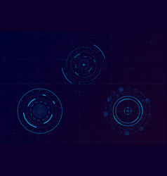 set hud circle infographic elements sci-fi vector image