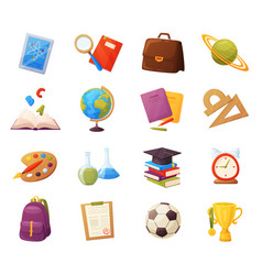 set school items vector image