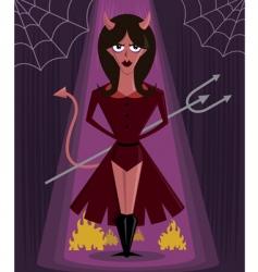 she devil Halloween vector image