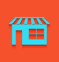 store sign whitish icon on vector image