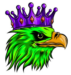 the logo queen eagles cute crown print vector image