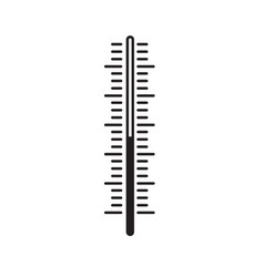 Thermometer scale indicator vector
